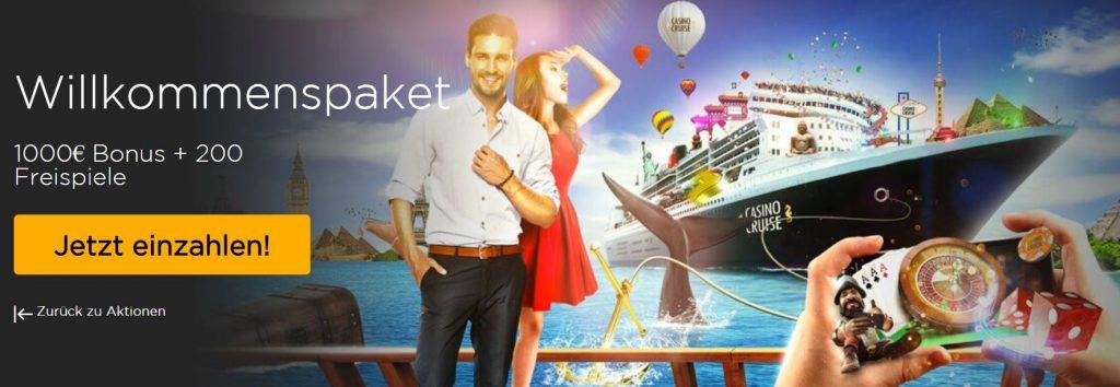 Roulette Bonus bei Casino Cruise