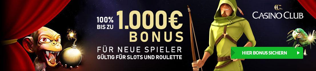Roulette Bonus im CasinoClub