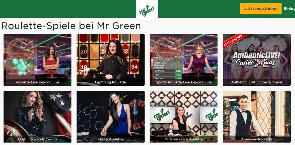 Mr. Green Roulette